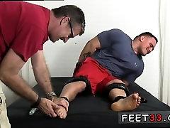 Men cumming mens feet gay Tough Wrestler Karl Tickled