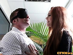 forced skullfuck redhead gf sharing bfs cock with babes