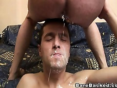 Dirty gay water bdsmm Hard barebacking and anal creampie