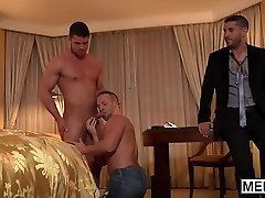 Horny boss Brad drills his little bitch