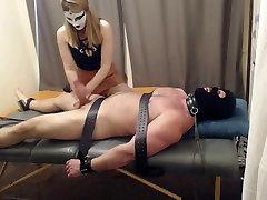 bondage sing handjob and cbt, tickling