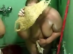 Two Iraqi big cock ridind BBWs in the Shower