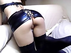 Sexy Ass in Stockings Spreading Pussy