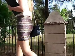 hot blonde girl with shiny pantyhose