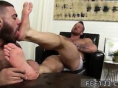 Gay fat guys rubbing each others feet first time Hugh Hunter