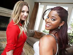 Interracial 2 girl taste her creampie kala coke With Kenna James & Jasmine Webb