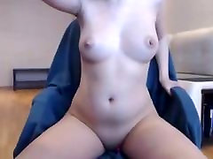 Sexy babe pissin on sofa pert tits boobs hard nipples & sucking cock