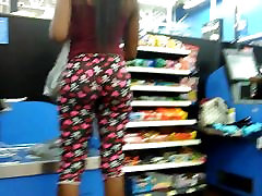 See thru leggings on black teen chick