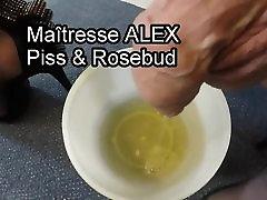 Piss and rosebud - crossdresser