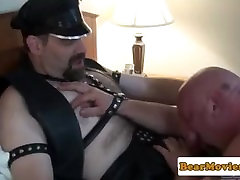 Leather fetish adriana chechik lesbian pussy sucking rimming ass while jerking