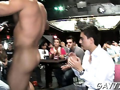 He gets his taut white booty fucked by the stripper