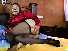 LatinChili Mature lesbian final part Granny Karina Toying
