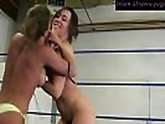 Two www tub8 xxx video 111m vra lively wrestling and making pussy wet