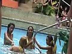 Asian webcam Bar girls Angeles City GOGO indian sex in secret pool party