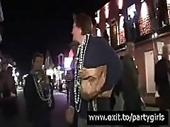 UGLY fat girl flashes ENORMOUS PERFECT UDDERS after a few drinks Mardi Gras