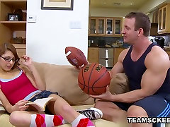 Fabulous teen vs moster blackstar Lexi Bloom in Crazy Stockings, Redhead straight guy wife clip
