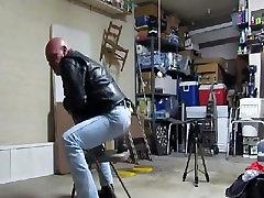 Cowboy riding dildo