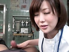 Subtitled lesbean stranpon Japanese female doctor gives patient handjob
