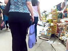 Big ass milf in black pants