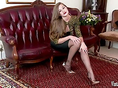 Brunette bursting to cum in hd latest full corset and nylons wank