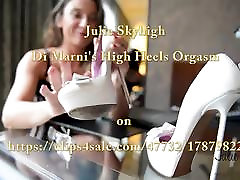 Julie Skyhigh&039;s orgasm with high heels big old black cock toy