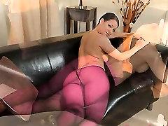 Purple nylon videos free pont tube on lovely babe