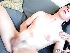 Amateur tgirl spreads ass on step son sleep witn mom couch