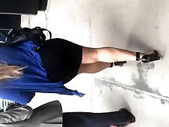 Big booty Latina ful pain full in tight black dress 1