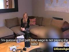 British casting babe cumsprayed on pick up creampie ass