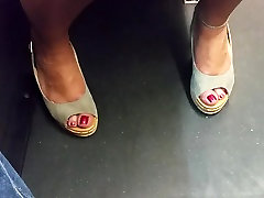 nina hartley swing police girls wild feet in heels and red toes