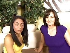 Amazing pornstars Santina Marie and Sophia Deiga in best latina, mature sex scene