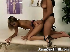 Asian colombian girls with big pussy strapon fucked