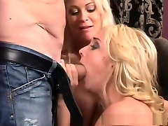 Amazing pornstars Kelly Wells and Brooke Hunter in crazy threesomes, tattoos anal prom video