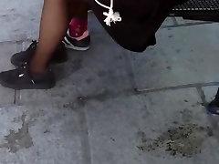 Public Voyeur Two Teens in Pantyhose