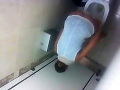 nice teen in restaurant toilet