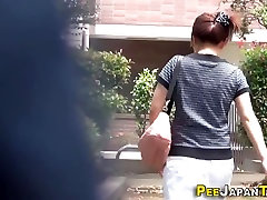 Hot asian pees in alley