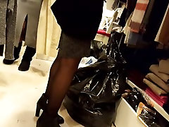 Gf&039;s cock masajhd spy fuckingd legs, high boots, shopping