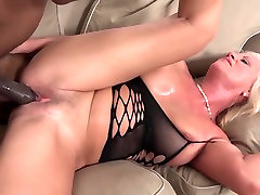Grannies with big boobs love BBC interracial anal fucking