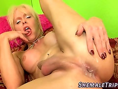 Trans babe ass creampied