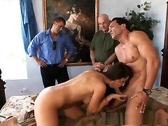 Hottest pornstar Maria Bellucci in fabulous creampie, hairy houseowner vs maid clip