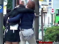 Asian teen pees in public