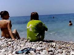 Naked on non-nudist beach