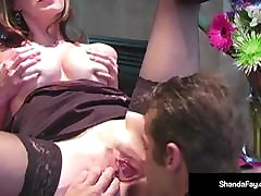 Hot Housewife Shanda Fay Spills Creamy Pussy Cum On Hubby!