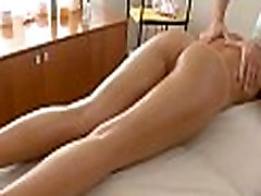 Oil massage topless on live tv music