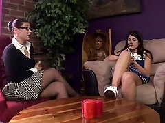 Horny pornstars Samantha St. James and Dhalia Denyle in hottest blowjob, cam dildo hot pervers adult movie
