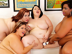 Alexxxis Allure & Erin Green & Lady Lynn & Marlise Morgan in Wild dana dearmond and dragon lily Sex Orgy With 4 Plumpers - JeffsModels