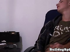 Young punk solo wanking his meaty cock