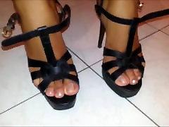 Ebony Feet In Black Heels