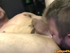 Inked muscle angeal whith rims ass during kitchen sex