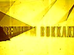 פרמיה Bukkake. אלמה בולע 64 ענק פה מלא בהצטיינות המון